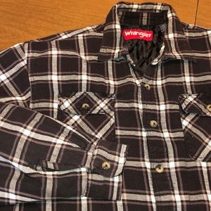 WRANGLER Quilted Lined  Flannel Shirt Jacket XL